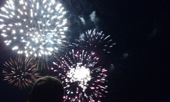 FIREWORKS!! {Sorry it's blurry, It was hard to capture;) }